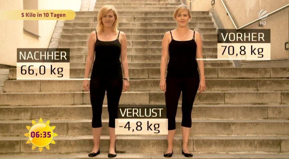 wie kann ich in 10 tagen 5 kilo abnehmen