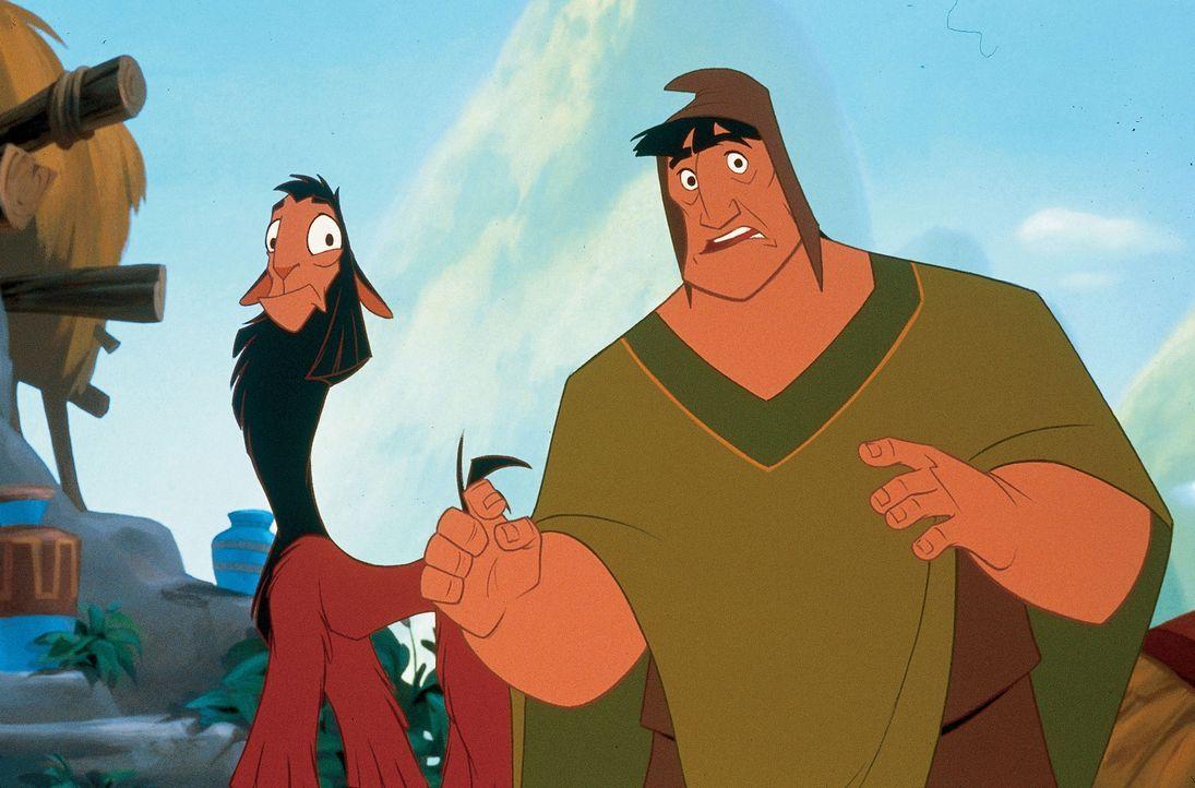 Das ungleiche Paar macht sich auf die Suche nach einem Mittel, das das Lama wieder in König Kuzco zurückverwandeln kann. - Bildquelle: Disney Enterprises Inc.