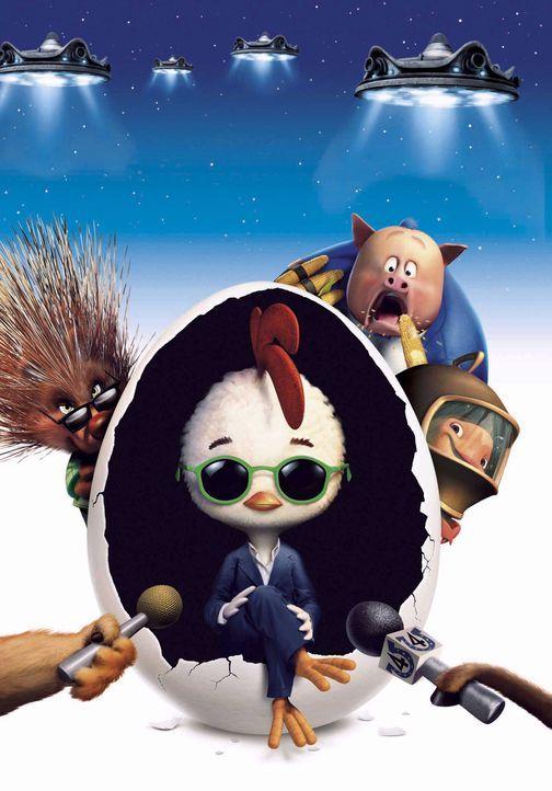 Können eine drohende Invasion von Außerirdischen gerade noch verhindern: (v.l.n.r.) MC Stachelschwein, Hühnchen Junior, Ed von Speck und Luigi Fo... - Bildquelle: Disney. All rights reserved