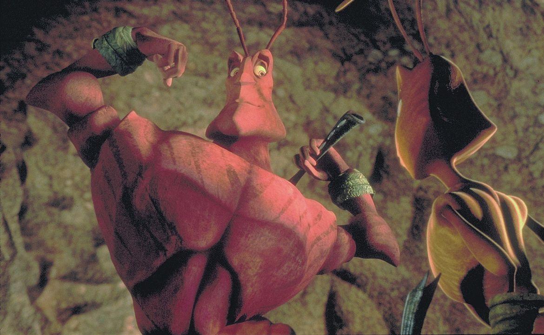 Um seiner Angebeteten Azteca (r.) näher sein zu können, tauscht der starke Soldat Weaver (l.) mit der Arbeiterameise Z den Arbeitsplatz. Damit ver... - Bildquelle: DreamWorks Distribution LLC