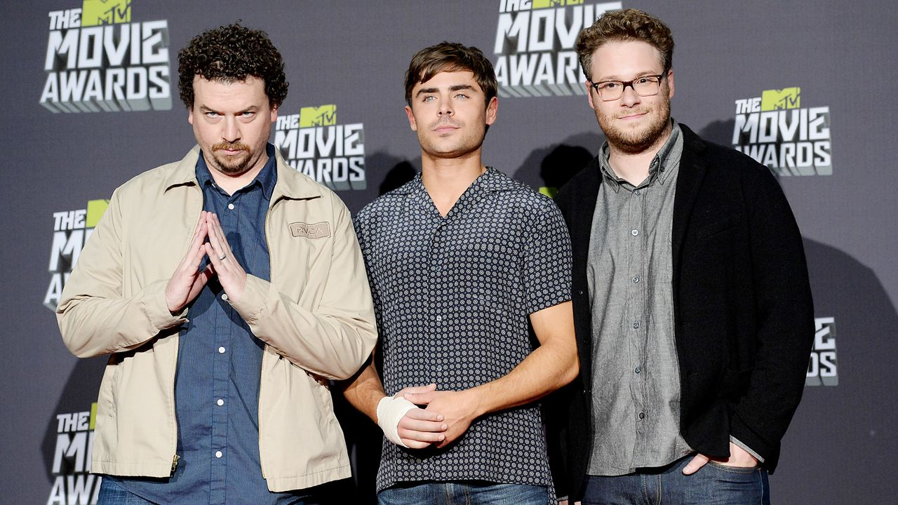 mtv-movie-awards-130414-Danny-McBride-Zac-Efron-Seth-Rogen-getty-AFP - Bildquelle: getty-AFP