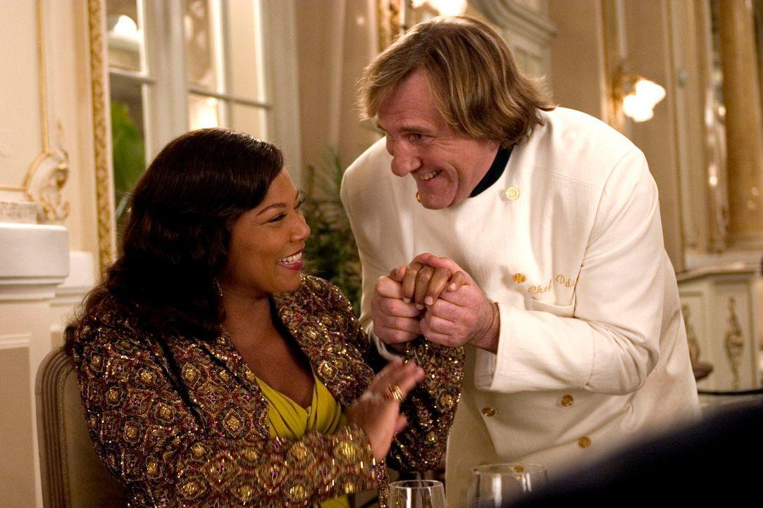 Georgia Byrds (Queen Latifah, l.) exzentrisches Auftreten hinterlässt auch bei Chefkoch Didier (Gérard Depardieu, r.) einen bleibenden Eindruck ... - Bildquelle: 2006 by PARAMOUNT PICTURES. All Rights Reserved.