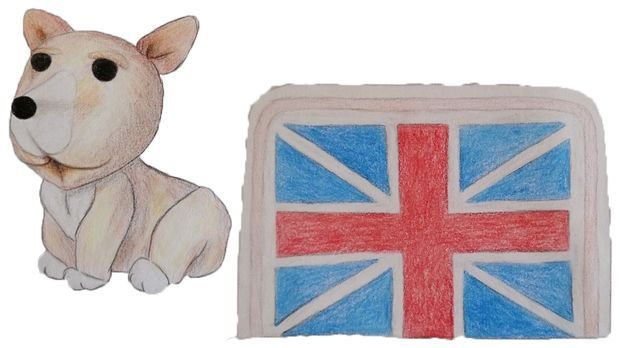 Vorlage Pop Art Union Jack Cake
