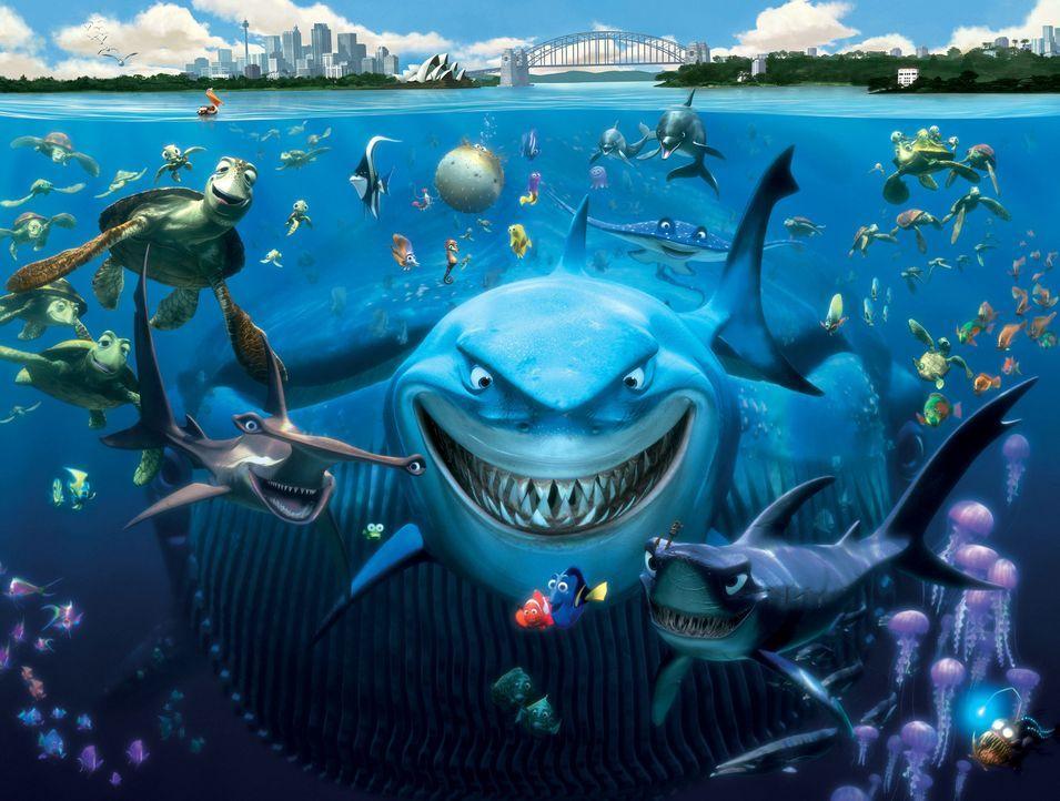 Die faszinierende Unterwasserwelt des Pazifiks vor der Küste Australiens. Hier machen sich Marlin und Dorie auf die Suche nach dem kleinen Nemo ? - Bildquelle: Walt Disney Pictures