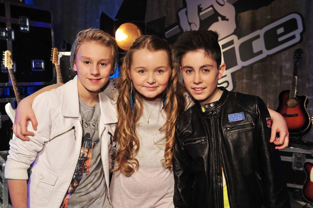 The-Voice-Kids-Stf02-Epi07-Vanessa-Joel-Leif-13-SAT1-Andre-Kowalski - Bildquelle: SAT.1/Andre Kowalski