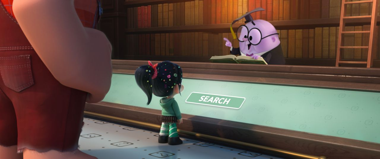 (v.l.n.r.) Ralph; Vanellope; Alleswisser - Bildquelle: 2018 Disney. All Rights Reserved.