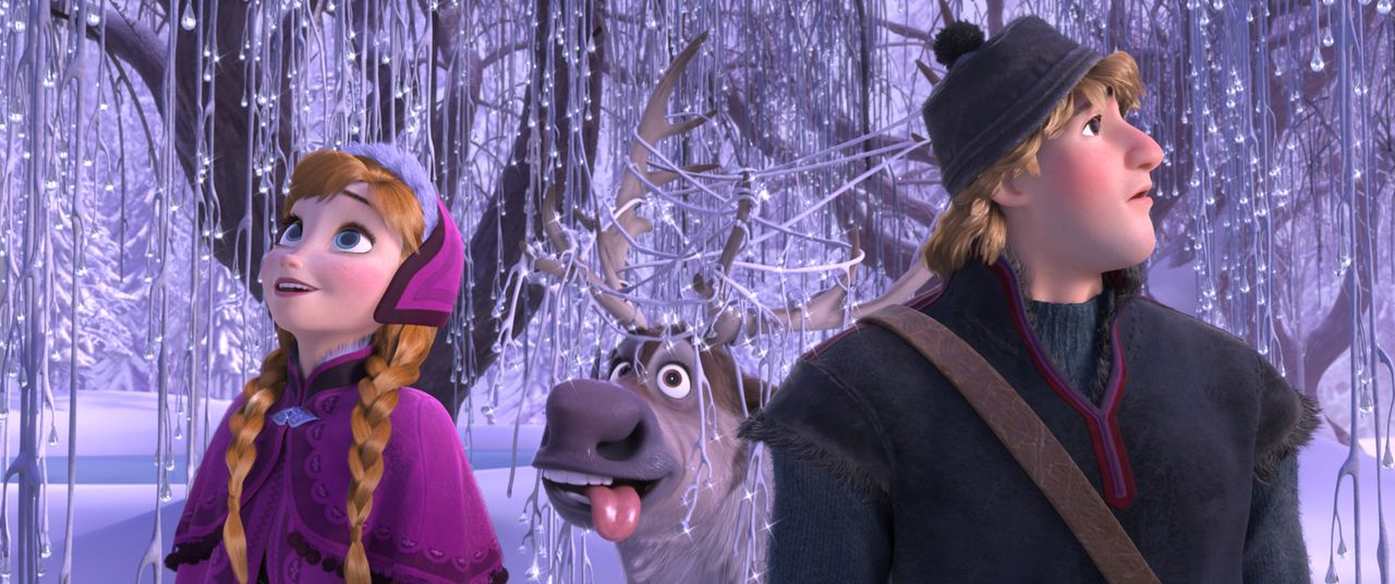 (v.l.n.r.) Anna; Sven; Kristoff - Bildquelle: 2013 Disney. All Rights Reserved
