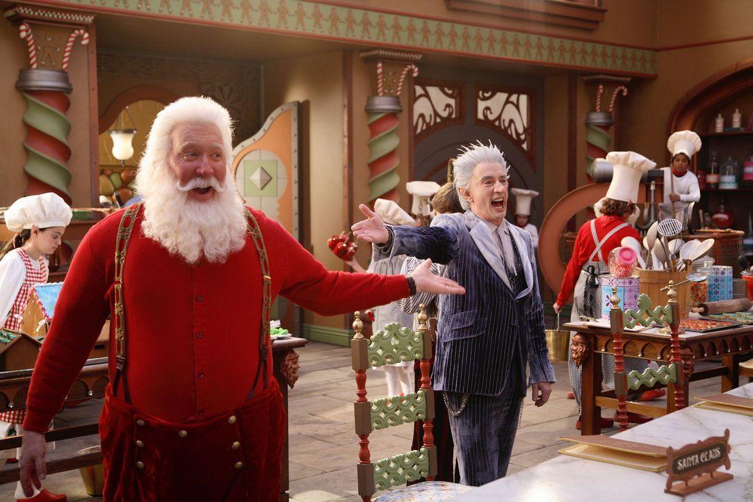 Gerissen plant Jack Frost (Martin Short, r.), die Kontrolle über den Nordpol und das Weihnachtsfest an sich zu reißen. Dazu verwendet er eine Klau... - Bildquelle: Disney All rights reserved
