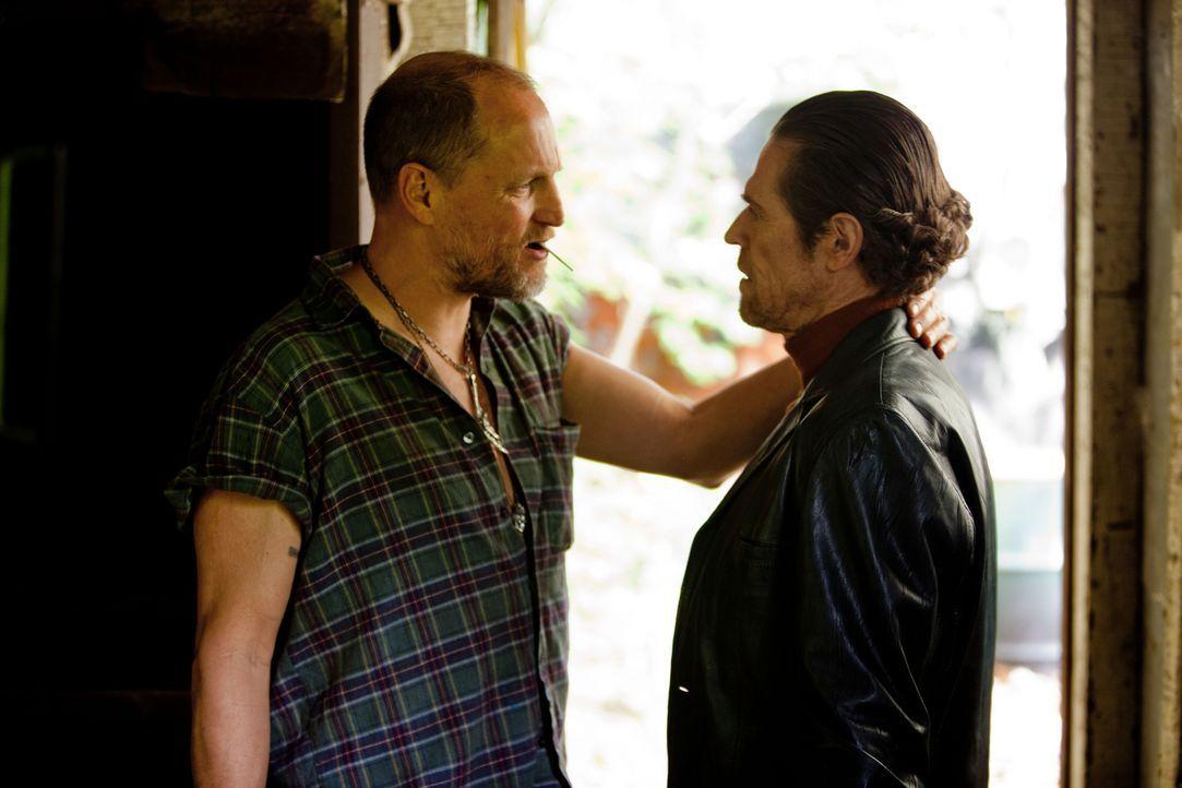 Gangsterboss Harlan DeGroat (Woody Harrelson, l.) und Buchmacher John Petty (Willem Dafoe, r.) veranstalten illegale, aber lukrative Straßenkämpfe.... - Bildquelle: Kerry Hayes 2012 Relativity Media
