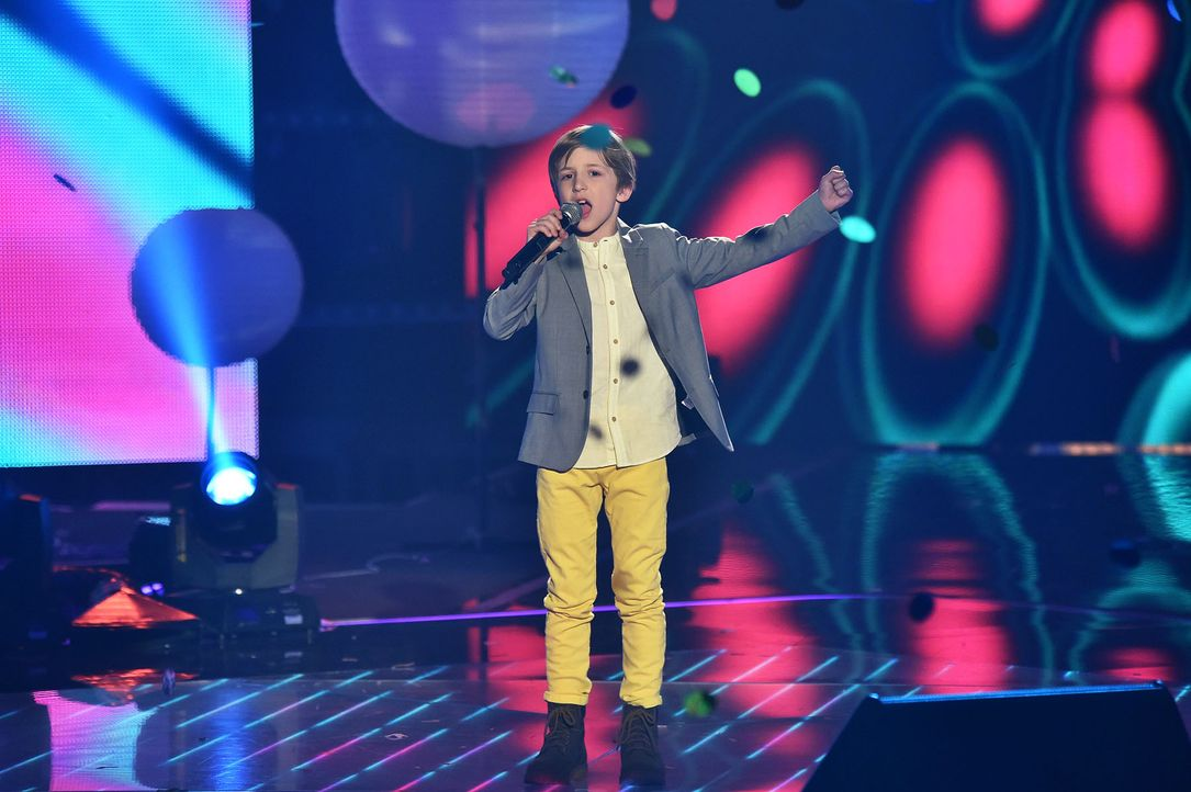 The-Voice-Kids-Stf03-Finale-Probe-74-Nestor-SAT1-Andre-Kowalski - Bildquelle: SAT.1/ Andre Kowalski