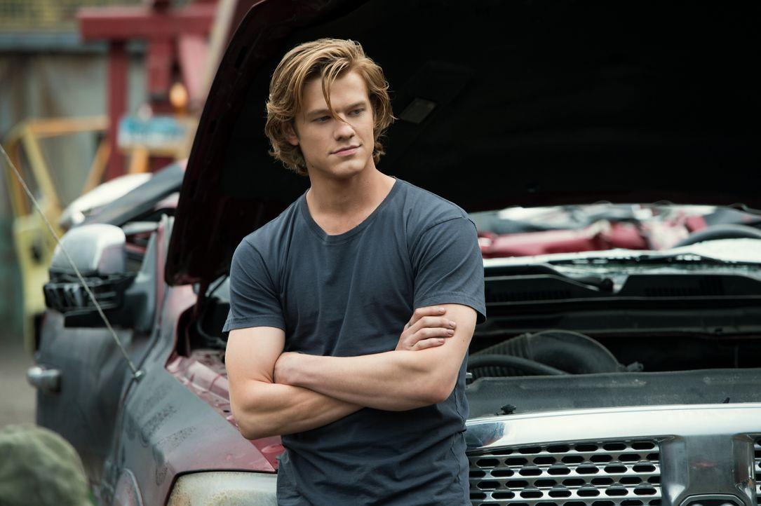 Tripp (Lucas Till) arbeitet neben der High School auf einem Schrottplatz, auf dem er seinen eigenen Truck zusammenbaut. Im Inneren des Wagens findet... - Bildquelle: Kimberley French 2016 Paramount Pictures. All Rights Reserved. / Kimberley French