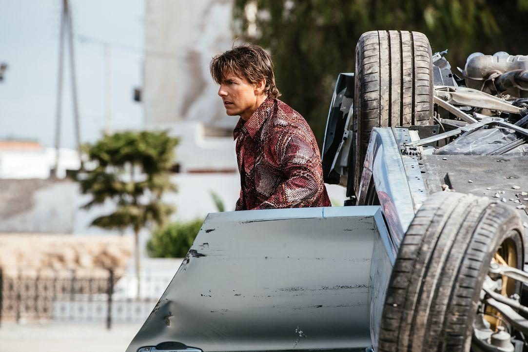 Für Ethan Hunt (Tom Cruise) steht eines fest: Syndikat-Anführer Solomon wird den USB-Stick mit den Daten zur Finanzierung der Untergrundorganisation... - Bildquelle: Christian Black 2015 PARAMOUNT PICTURES. ALL RIGHTS RESERVED. / Christian Black