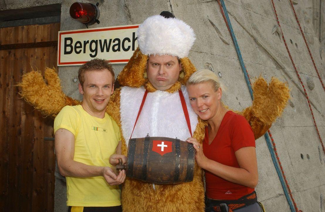 Ralf (Ralf Schmitz, l.), Markus (Markus Majowski, M.) und Mirja (Mirja Boes, r.) sind Deutschlands spaßige Comedy-WG ... - Bildquelle: Stephen Power Sat.1