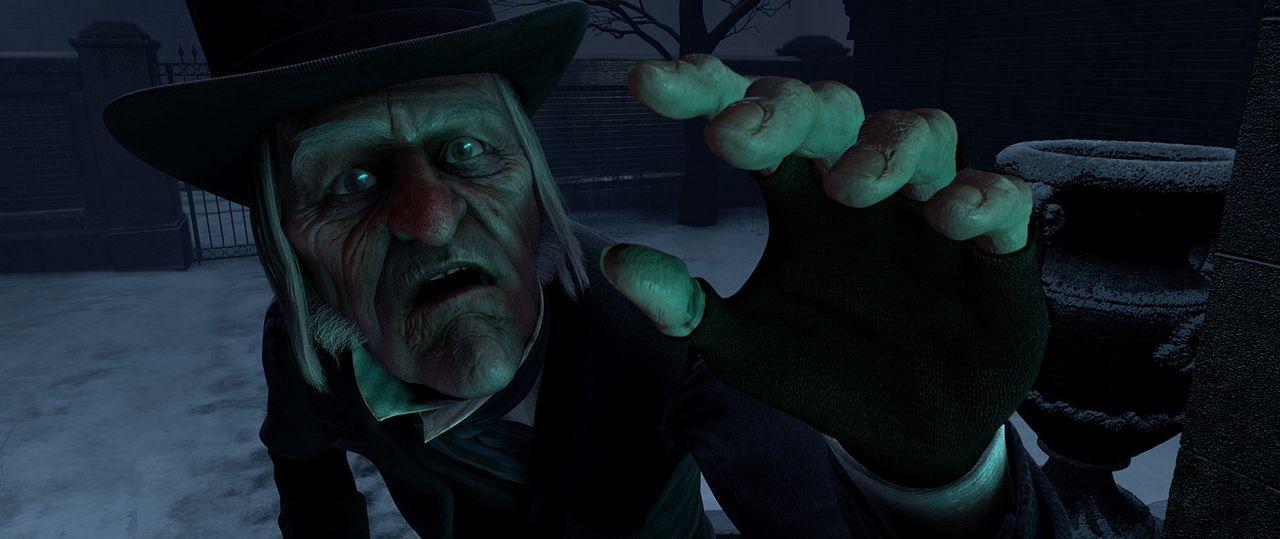 Wird die Begegnung mit den Geistern der vergangenen, gegenwärtigen und zukünftigen Weihnacht, den eiskalten und geizigen Geschäftsmann Ebenezer S... - Bildquelle: Walt Disney Pictures/Imagemovers Digital, LLC.