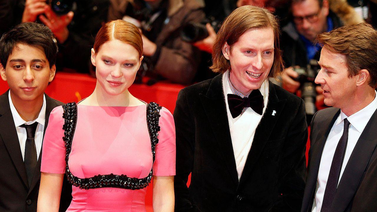 Berlinale-Tony-Revolori-Lea-Seydoux-Wes-Anderson-Edward-Norton-14-02-06-AFP - Bildquelle: AFP