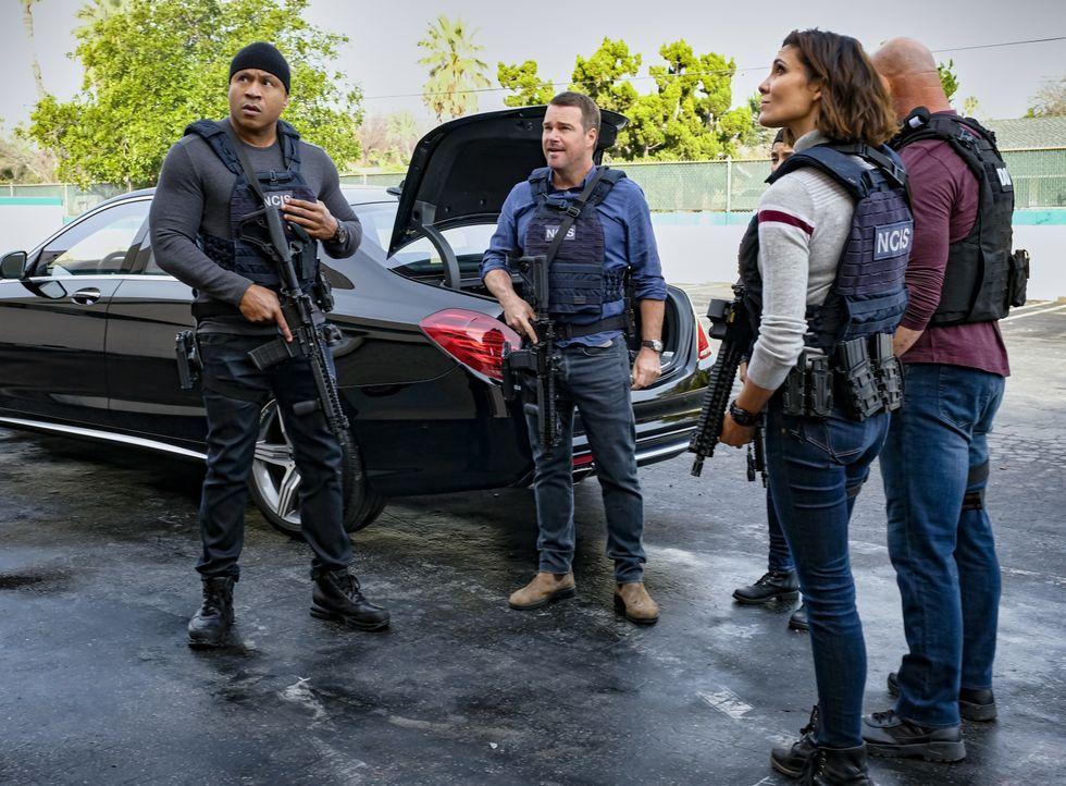 (v.l.n.r.) Sam Hanna (LL Cool J); G. Callen (Chris O'Donnell); Kensi Blye (Daniela Ruah) - Bildquelle: Trae Patton 2020 CBS Broadcasting Inc. All Rights Reserved. / Trae Patton
