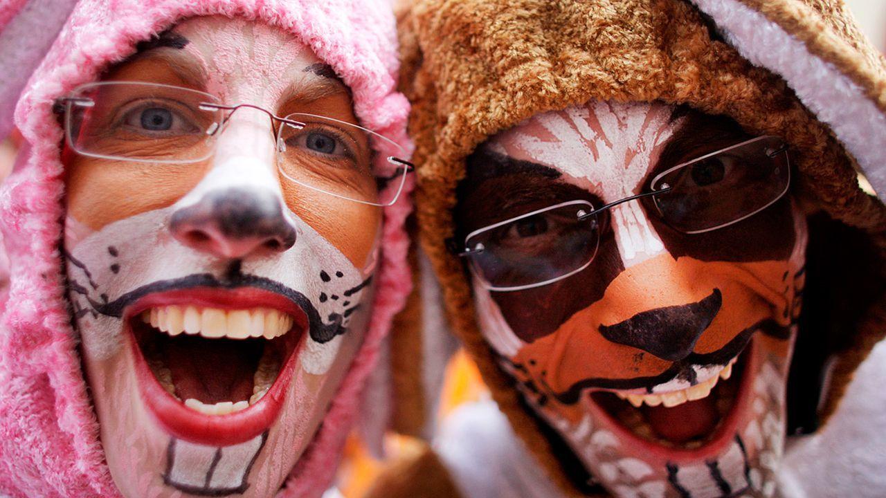 fasching-schminken-11-02-15-hasen-dpa - Bildquelle: dpa