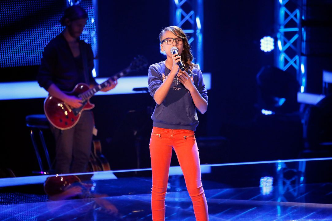 The-Voice-Kids-s04e01-Jessy-SAT1-Richard-Huebner - Bildquelle: SAT.1/ Richard Huebner