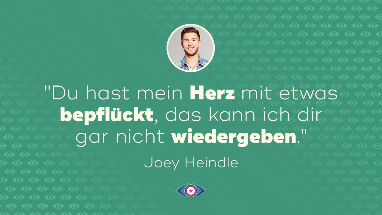 """Promi Big Brother"" 2019: Tag 10 Joey Liebesbotschaft - Bildquelle: SAT.1"