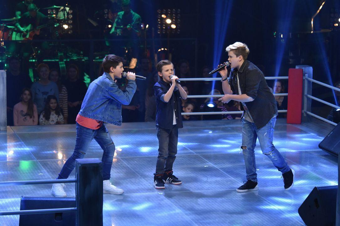 Battle: Peter,Cedrik und Nils - Bildquelle: SAT.1 / Andre Kowalski