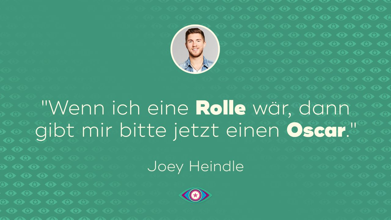 """Promi Big Brother"" 2019: Joey - Oscar Tag 8 - Bildquelle: SAT.1"