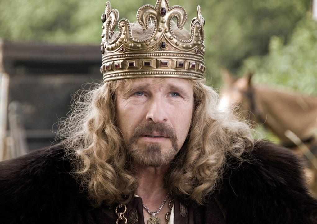 Herzelinde, die Tochter des ehrenwerten und weisen Königs Gunther (Thomas Gottschalk), wird von niemand geringerem, als dem hinterlistigen Luitpold... - Bildquelle: Warner Brothers