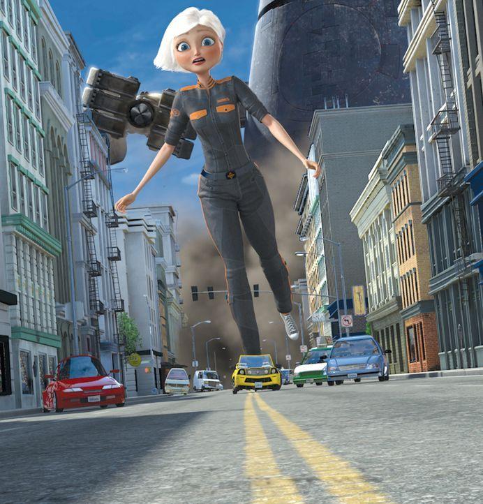 Ausgerechnet an ihrem Hochzeitstag wird die unscheinbare, junge Susan von einem Meteoriten getroffen, in Folge dessen sie zu gigantischer Größe he... - Bildquelle: TM and   2008 by DreamWorks Animation LLC. All rights reserved.