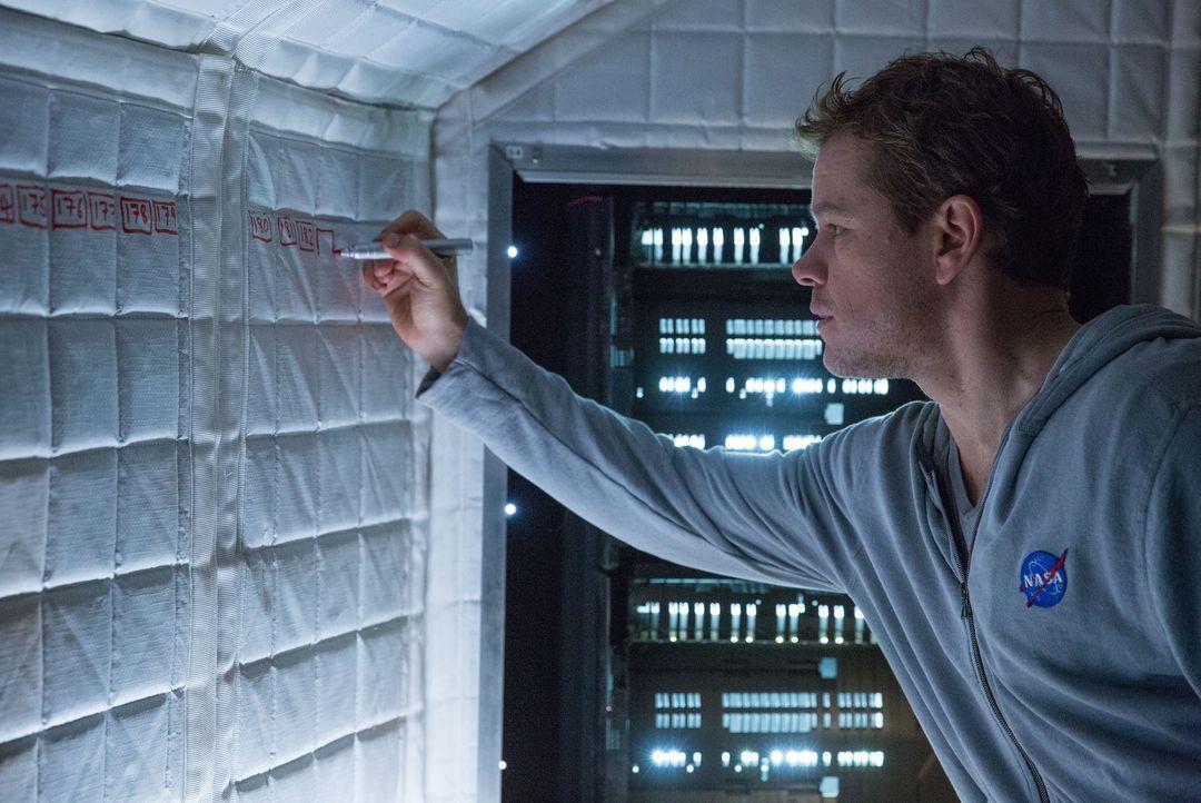 Täglich führt Mark Watney (Matt Damon) ein Video-Logbuch und baut nach und nach alle Systeme wieder auf, die der Sturm beschädigt hatte. Unterdessen... - Bildquelle: 2015 Twentieth Century Fox Film Corporation. All rights reserved.