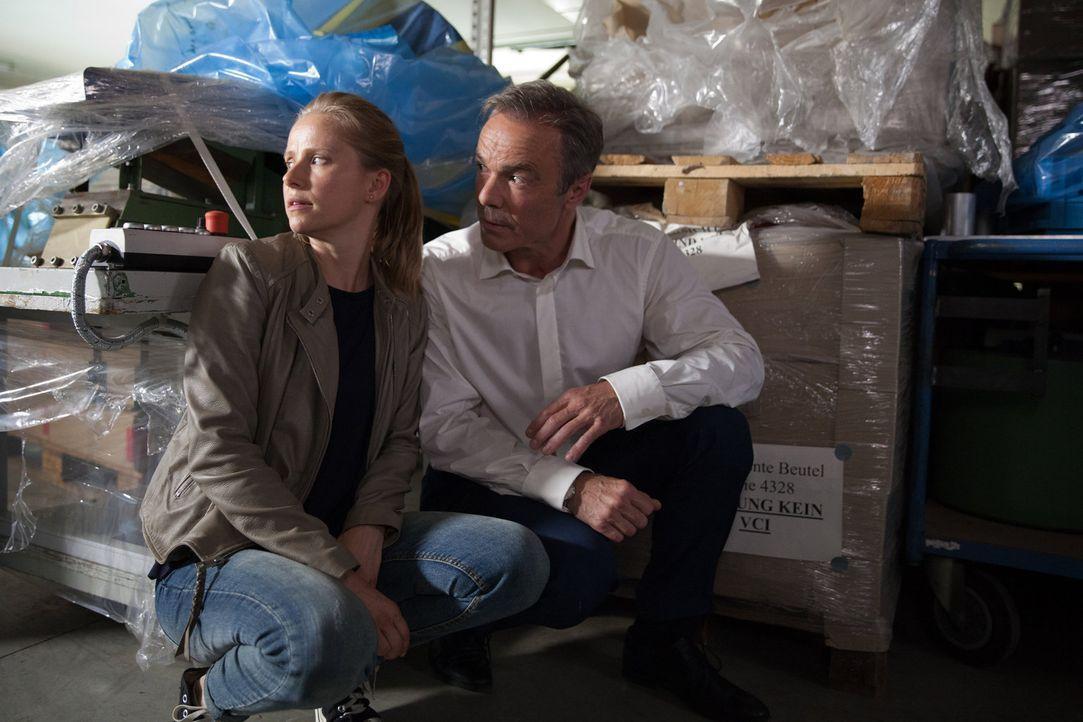 Begeben sich unerlaubt in die Höhle des Löwen, um einen wichtigen Zeugen ausfindig zu machen: Axel (Hannes Jaenicke, r.) und Jenny (Susanne Bormann,... - Bildquelle: Maor Waisburd SAT. 1