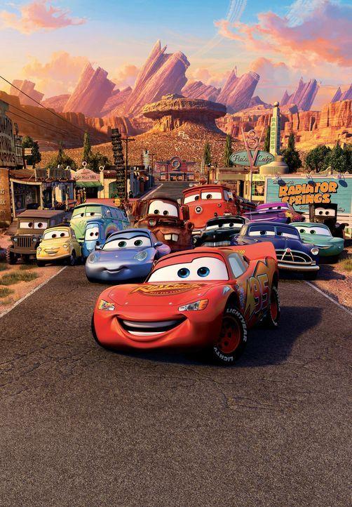 In der Welt der Autos sind die Tankstellen Restaurants, die Reifenhandlungen Schuhgeschäfte und die Werkstätten Body Shops. Hier dreht sich alles... - Bildquelle: Walt Disney Pictures
