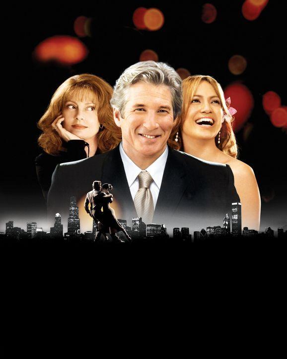 Darf ich bitten?: John (Richard Gere, M.), Beverly (Susan Sarandon, l.) und Paulina (Jennifer Lopez, r.) ... - Bildquelle: Buena Vista International Television