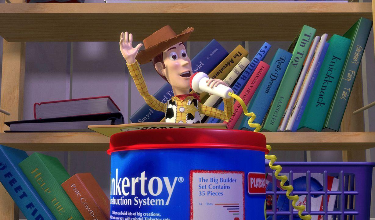 Im Reich des kleinen Andy ist es die alte Cowboy-Puppe Woody (Bild), die das Sagen im Kinderzimmer hat. Dessen Status gerät mächtig ins Wanken, als... - Bildquelle: Disney/PIXAR