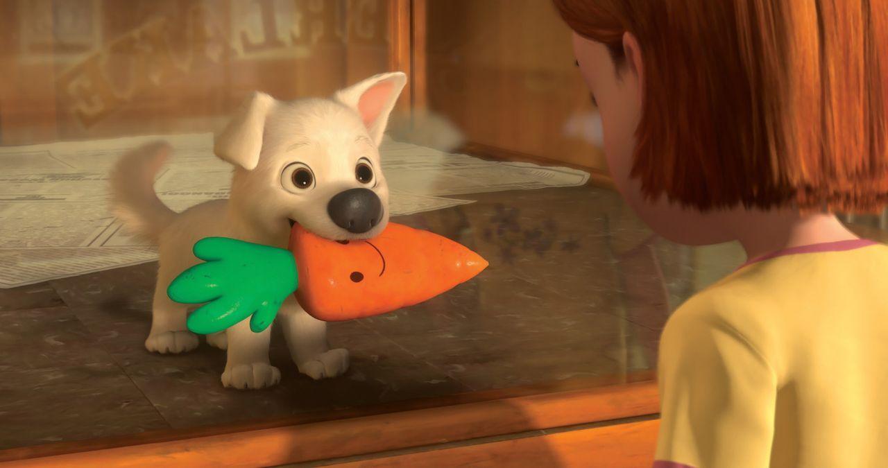 """Liebe auf den ersten Blick: Die kleine Penny (r.) ist von dem süßen Hund (l.) sofort angetan. Sie tauft ihn auf den Namen """"Bolt"""" und die beiden si... - Bildquelle: Disney Enterprises, Inc.  All rights reserved"""