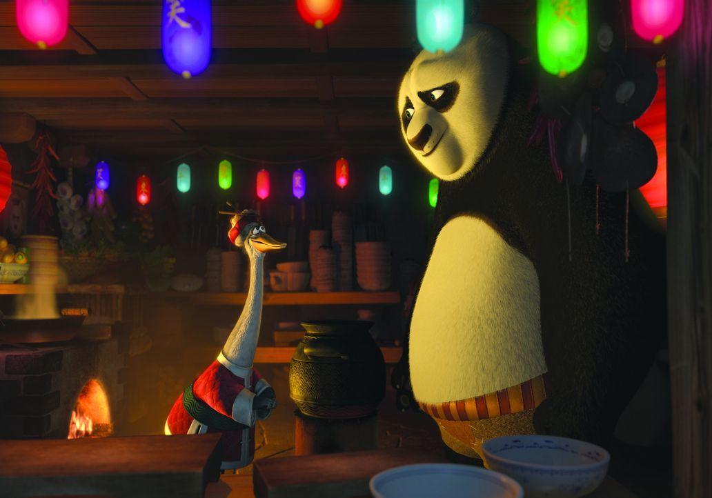 Mr. Ping (l.) ist nicht bereit, dass exklusive Winterfestessen für die großen Kung Fu-Meister zu kochen. Denn in derselben Nacht hat er eine groß... - Bildquelle: 2008 DREAMWORKS ANIMATION LLC. ALL RIGHTS RESERVED.