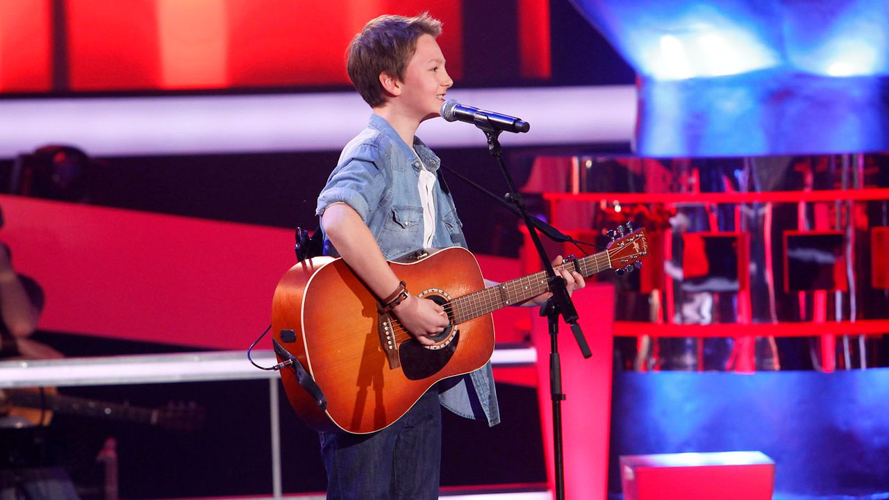 The-Voice-Kids-epi04-Finn-3-SAT1-Richard-Huebner - Bildquelle: SAT.1/Richard Hübner