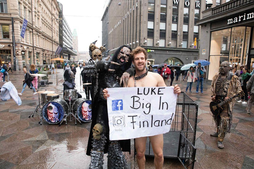 Kann die finnische Hard-Rock-Band Lordi dem Comedian Luke zu Ruhm verhelfen? - Bildquelle: SAT.1