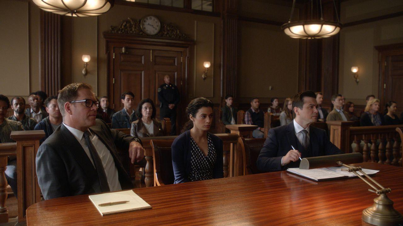 (v.l.n.r.) Dr. Jason Bull (Michael Weatherly); Jessica Lee (Angelic Zambrana); Benny Colón (Freddy Rodriguez) - Bildquelle: 2019 CBS Broadcasting, Inc. All Rights Reserved