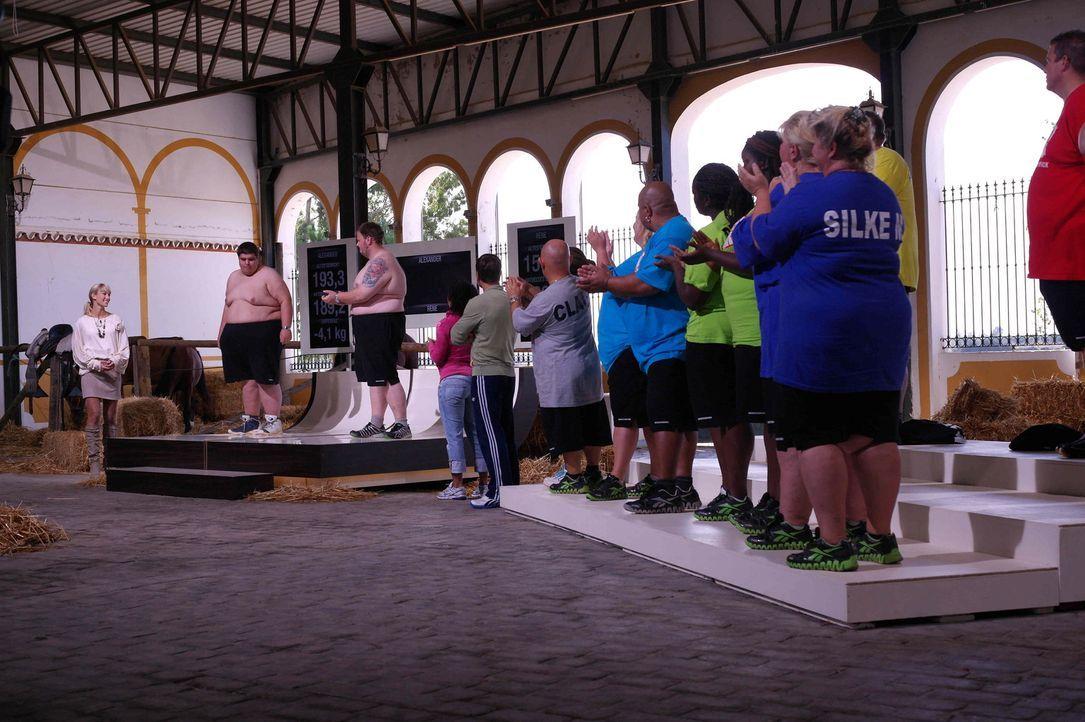 """Bei """"The Biggest Loser"""" sagen 24 übergewichtige Teilnehmer den Kilos den Kampf an. Mit Hilfe der Trainer kämpfen sie um neues Leben ... - Bildquelle: Enrique Cano SAT.1"""
