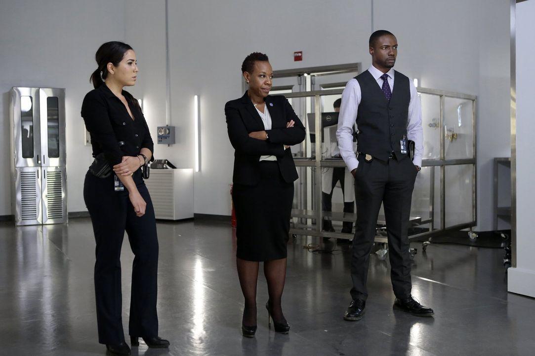 Können Mayfair (Marianne Jean-Baptiste, M.), Zapata (Audrey Esparza, l.) und Edgar Reed (Rob Brown, r.), die beiden undercover agierenden Kollegen J... - Bildquelle: Warner Brothers