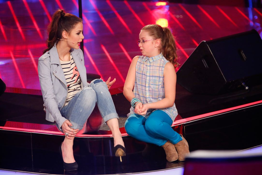 The-Voice-Kids-Stf03-Epi04-Eleni-SAT1-Richard-Huebner - Bildquelle: SAT.1/Richard Hübner