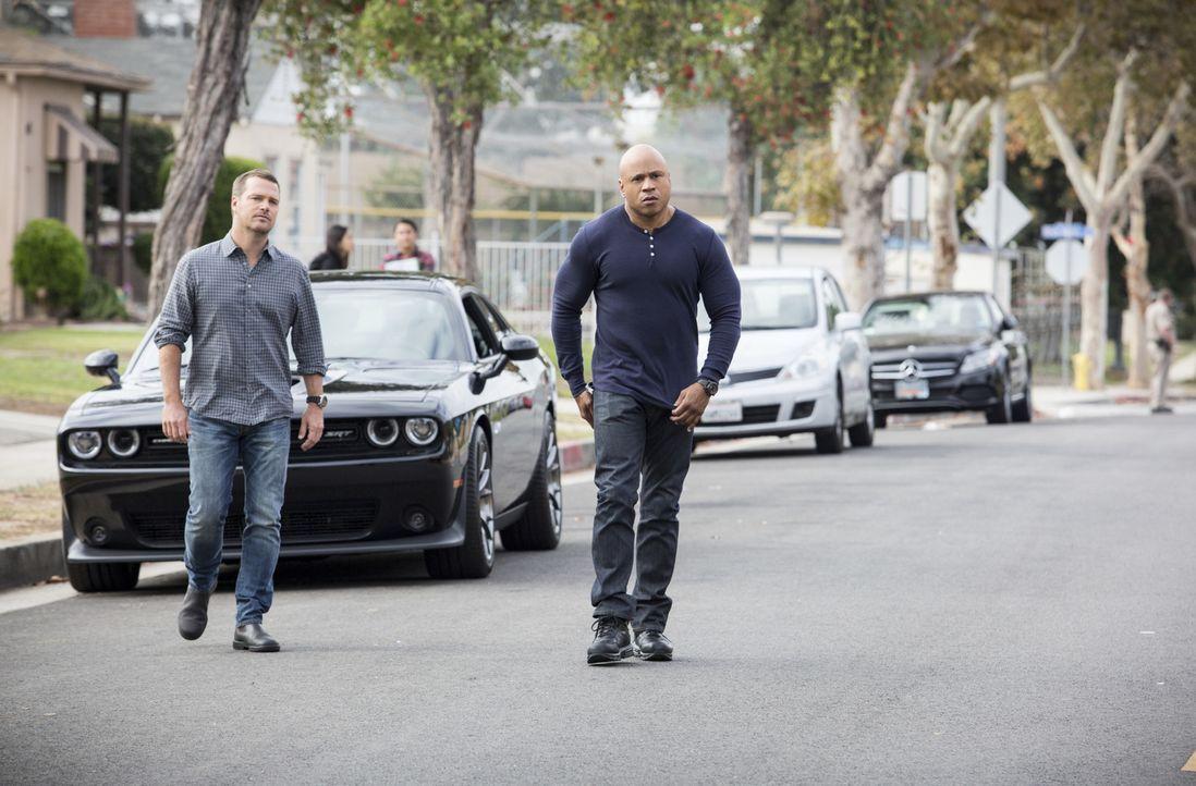 Auf das Team um Sam (LL Cool J, r.) und Callen (Chris O'Donnell, l.) wartet ein neuer Fall ... - Bildquelle: Erik Voake 2016 CBS Broadcasting, Inc. All Rights Reserved.