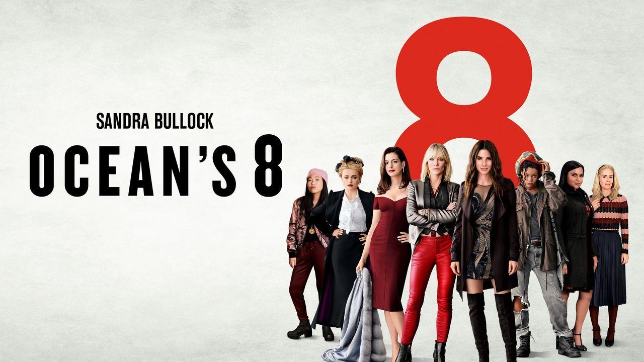 Ocean's 8 - Artwork - (v.l.n.r.) Constance (Awkwafina); Rose Weil (Helena Bonham Carter); Daphne Kluger (Anne Hathaway); Lou Miller (Cate Blanchett)... - Bildquelle: 2018 Warner Bros. Entertainment Inc., Village Roadshow (BVI) Limited.