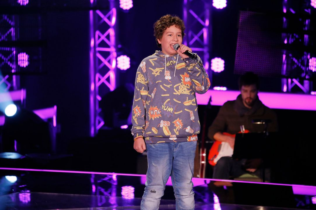 The-Voice-Kids-s04e02-Luca-3-SAT1-Richard-Huebner - Bildquelle: © SAT.1/ Richard Hübner