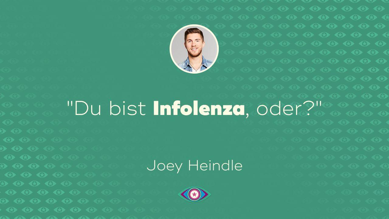 Einzug: Joey Heindle - Bildquelle: SAT.1