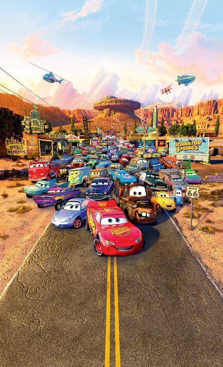 In der Welt der Autos, in der Tankstellen Restaurants, Reifenhandlungen Schuhgeschäfte und Werkstätten Body Shops sind, dreht sich alles um Lightn... - Bildquelle: Walt Disney Pictures