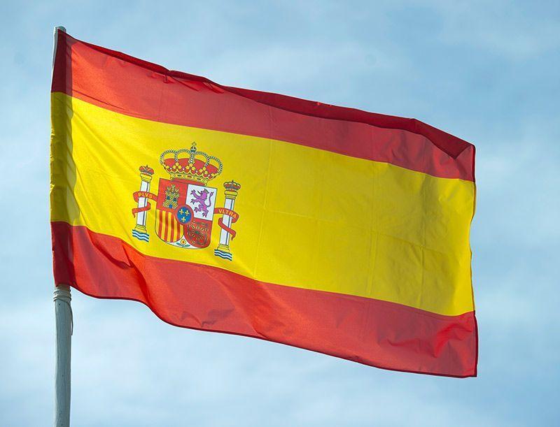 spanien-flagge-dpa - Bildquelle: Verwendung weltweit, usage worldwide