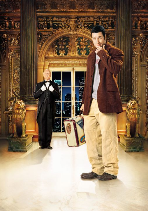 Furchtbar reich zu sein ist harte Arbeit, doch Emilio (John Turturro, l.) steht seinem Chef Mr. Deeds (Adam Sandler, r.) stets zur Seite ... - Bildquelle: 2003 Sony Pictures Television International. All Rights Reserved.